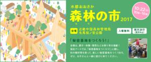 10/22(日)水都おおさか森林の市2017「秘密基地をつくろう!」