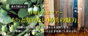 4/14(土)日帰りバスツアー「もっと知りたい柿渋の魅力」